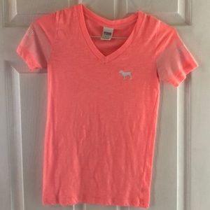 Two XS shirts,  Victoria Secret and Aeropostale.